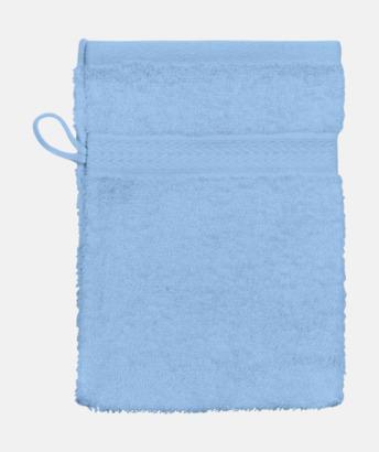 Ljusblå (Handske) Billiga handdukar med egen logga