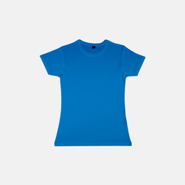 Electric Blue (dam) Eko t-shirts i viskos- & bomullsblandning med reklamtryck