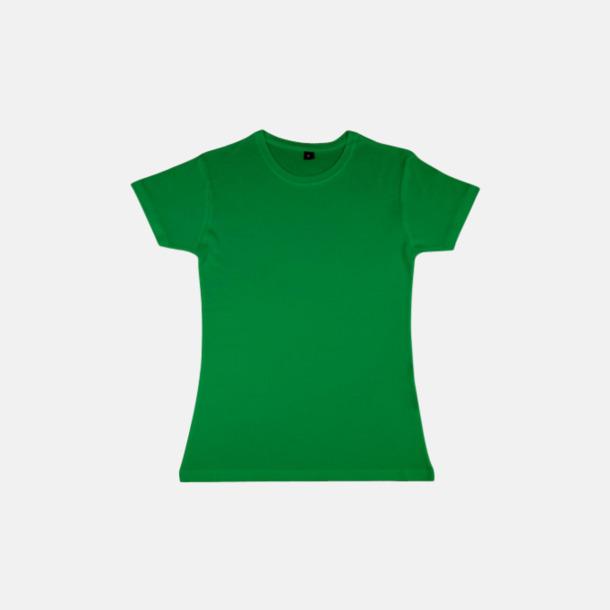 Kelly Green (dam) Eko t-shirts i viskos- & bomullsblandning med reklamtryck