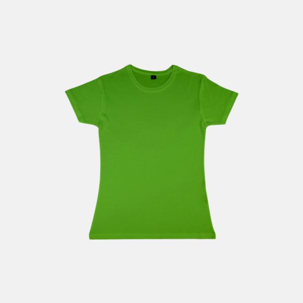 Tropical Green (dam) Eko t-shirts i viskos- & bomullsblandning med reklamtryck
