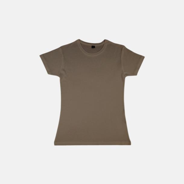 Walnut (dam) Eko t-shirts i viskos- & bomullsblandning med reklamtryck