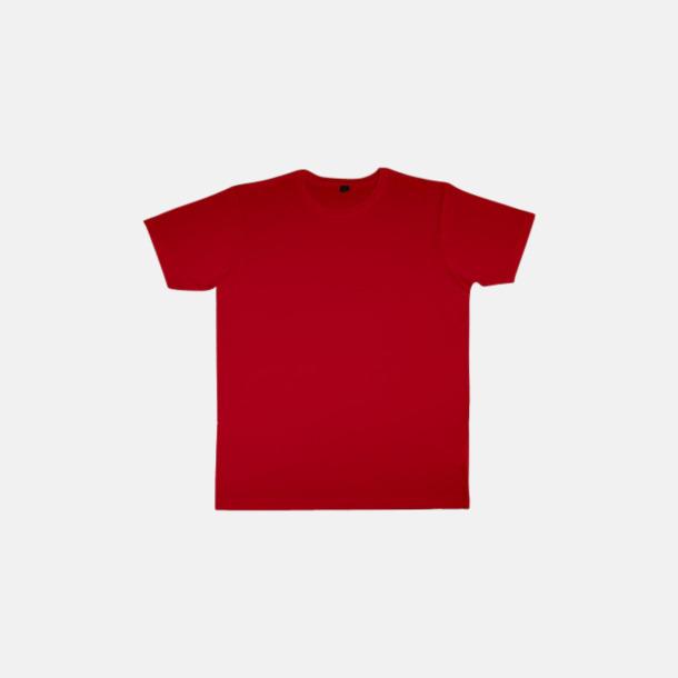 Röd (herr) Eko t-shirts i viskos- & bomullsblandning med reklamtryck