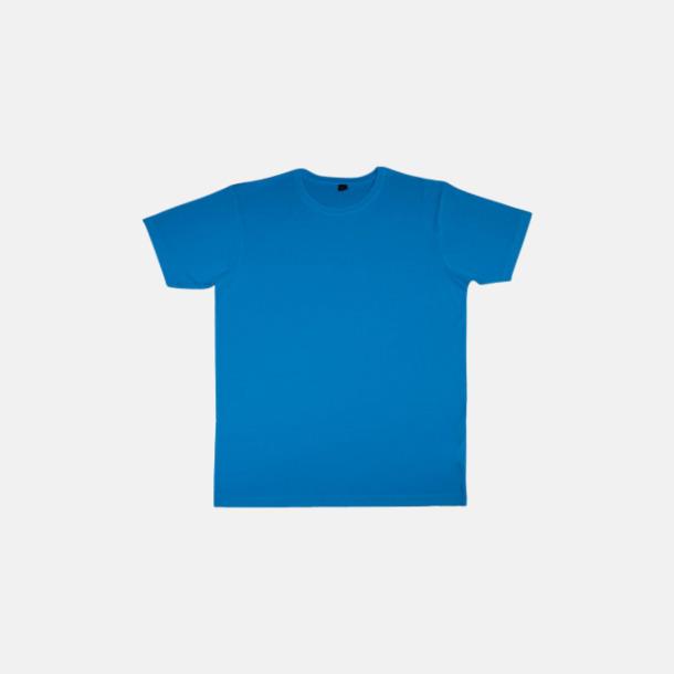 Electric Blue (herr) Eko t-shirts i viskos- & bomullsblandning med reklamtryck