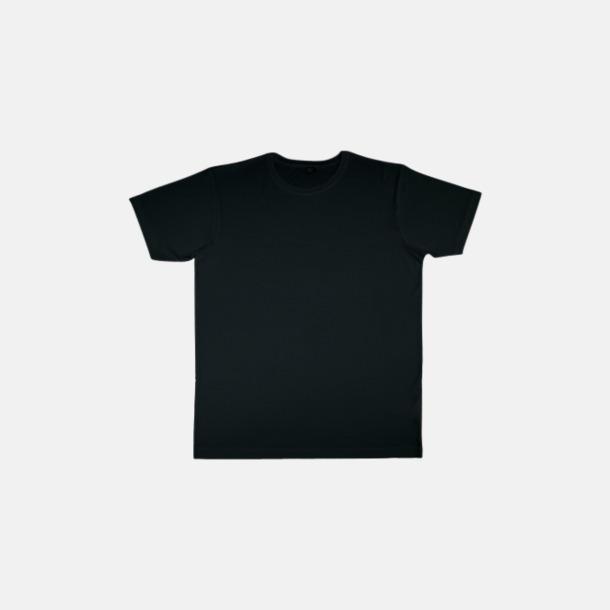 Svart (herr) Eko t-shirts i viskos- & bomullsblandning med reklamtryck