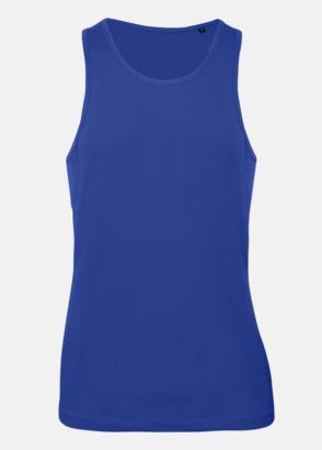 Cobalt Blue (herr) Neutrala eko linnen med reklamtryck