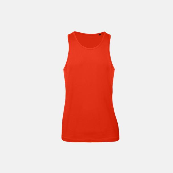 Fire Red (herr) Neutrala eko linnen med reklamtryck