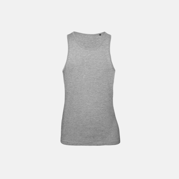 Sport Grey heather (herr) Neutrala eko linnen med reklamtryck