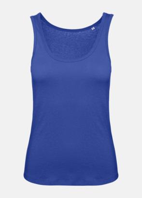 Cobalt Blue (dam) Neutrala eko linnen med reklamtryck