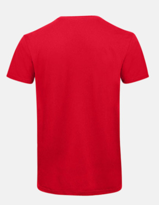Neutrala v-hals eko t-shirts med reklamtryck