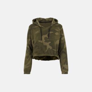 Kamouflage mönstrade damhuvtröjor med reklamtryck