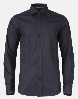Svart (herr) Exklusiva easy-care skjortor med reklamtryck