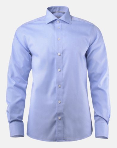 Ljusblå (herr) Exklusiva easy-care skjortor med reklamtryck