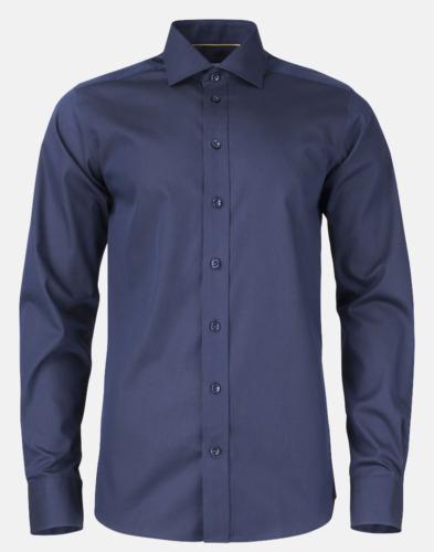 Marinblå (herr) Exklusiva easy-care skjortor med reklamtryck