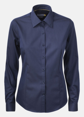 Marinblå (dam) Exklusiva easy-care skjortor med reklamtryck