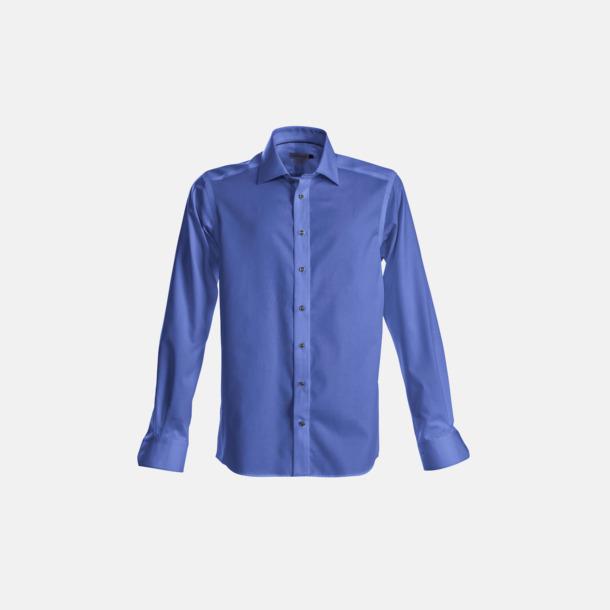 Middle Blue (herr) Exklusiva bomullsskjortor med reklamtryck