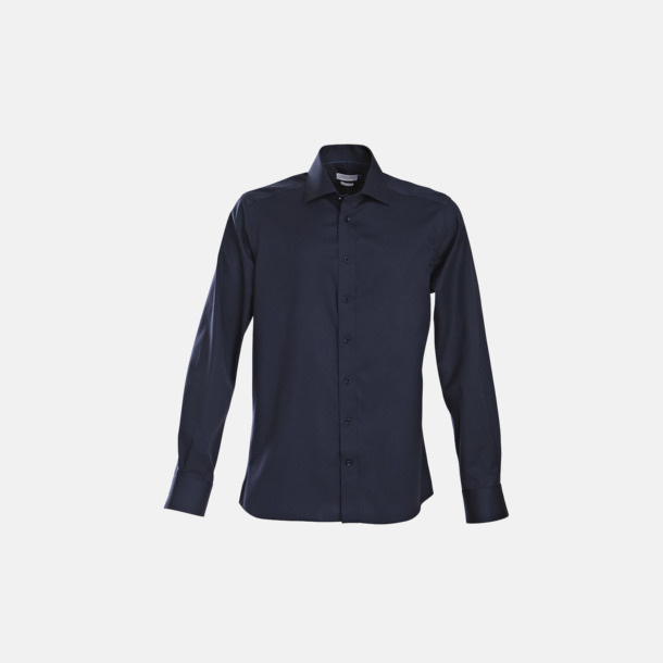 Marinblå (herr) Exklusiva bomullsskjortor med reklamtryck