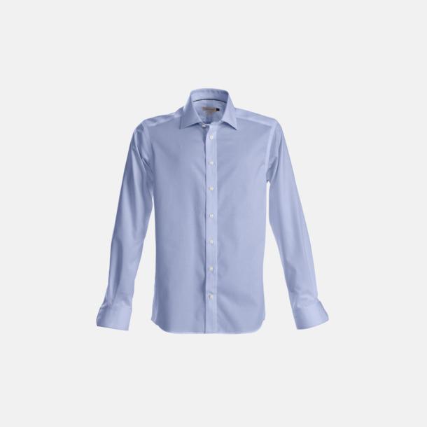 Ljusblå (herr) Exklusiva bomullsskjortor med reklamtryck