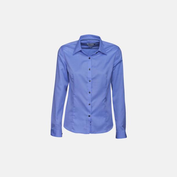 Middle Blue (dam) Exklusiva bomullsskjortor med reklamtryck