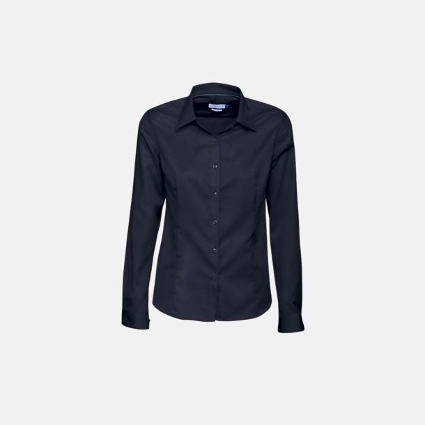 Marinblå (dam) Exklusiva bomullsskjortor med reklamtryck