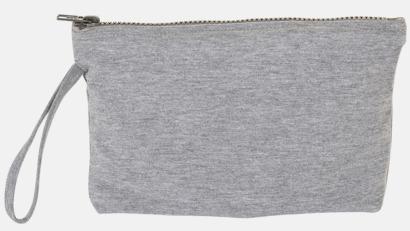 Grey Melange Bomullsetuier med reklamtryck