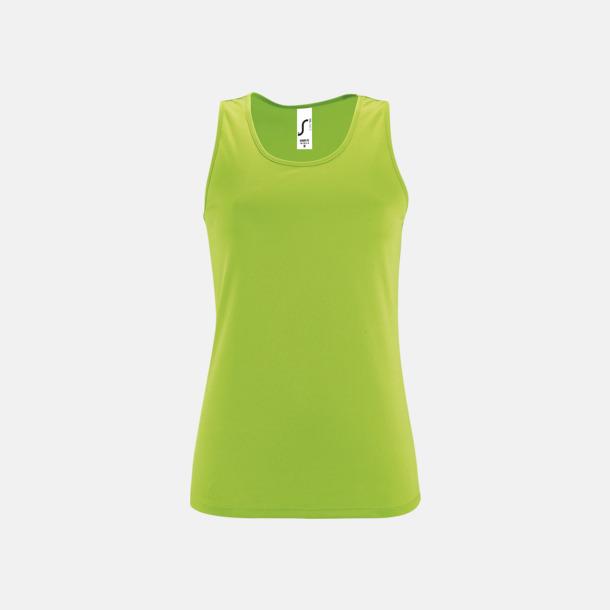 Neon Green (dam) Funktionslinnen med reklamtryck