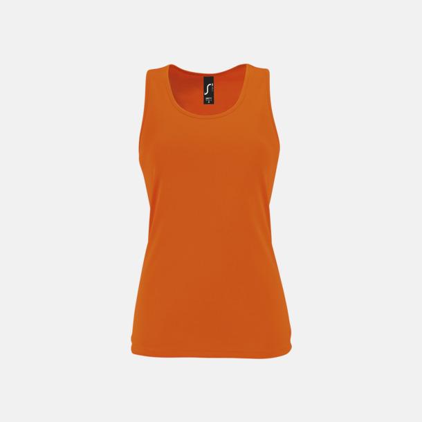 Neon Orange (dam) Funktionslinnen med reklamtryck