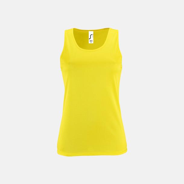 Neon Yellow (dam) Funktionslinnen med reklamtryck