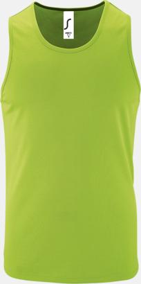 Neon Green (herr) Funktionslinnen med reklamtryck