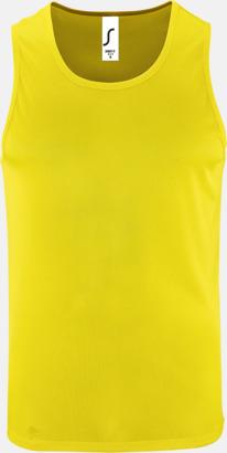 Neon Yellow (herr) Funktionslinnen med reklamtryck