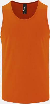 Neon Orange (herr) Funktionslinnen med reklamtryck