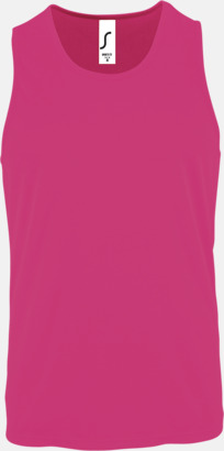Neon Pink (herr) Funktionslinnen med reklamtryck