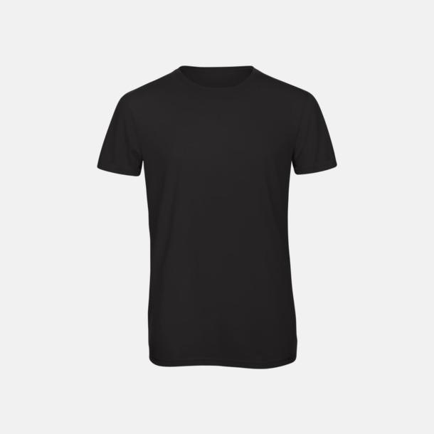 Svart (herr) Triblend t-shirts i dam & herr - med reklamtryck