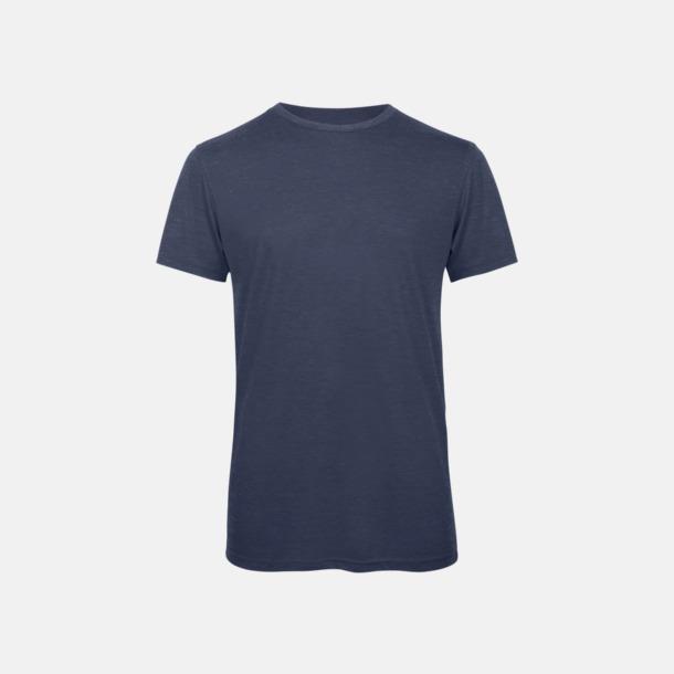 Heather Navy (herr) Triblend t-shirts i dam & herr - med reklamtryck