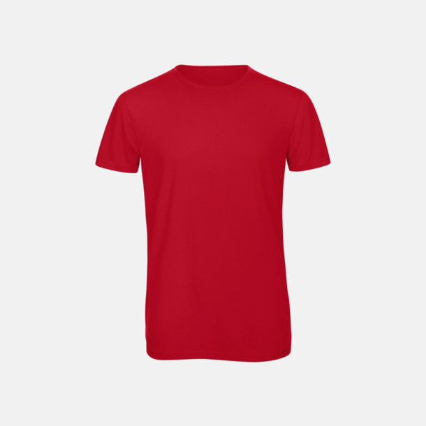 Röd (herr) Triblend t-shirts i dam & herr - med reklamtryck