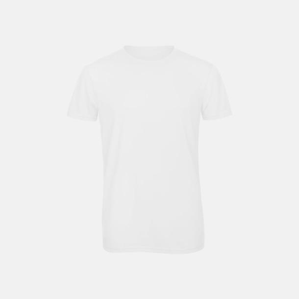 Vit (herr) Triblend t-shirts i dam & herr - med reklamtryck