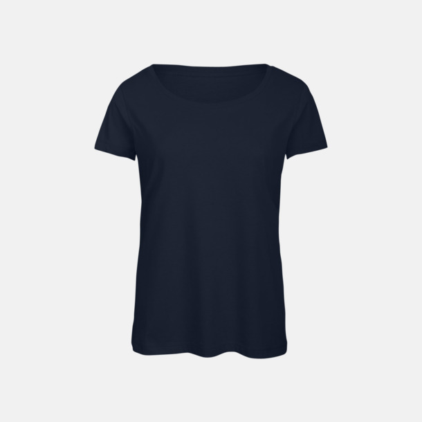 Marinblå (dam) Triblend t-shirts i dam & herr - med reklamtryck