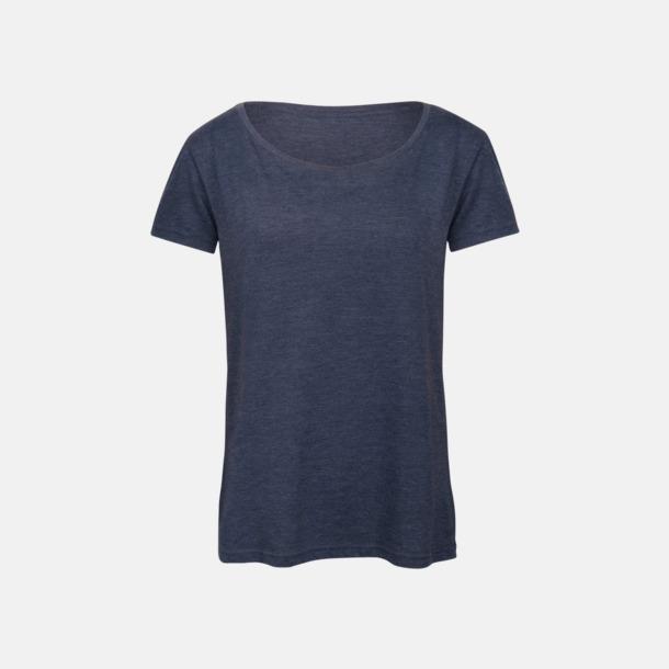 Heather Navy (dam) Triblend t-shirts i dam & herr - med reklamtryck