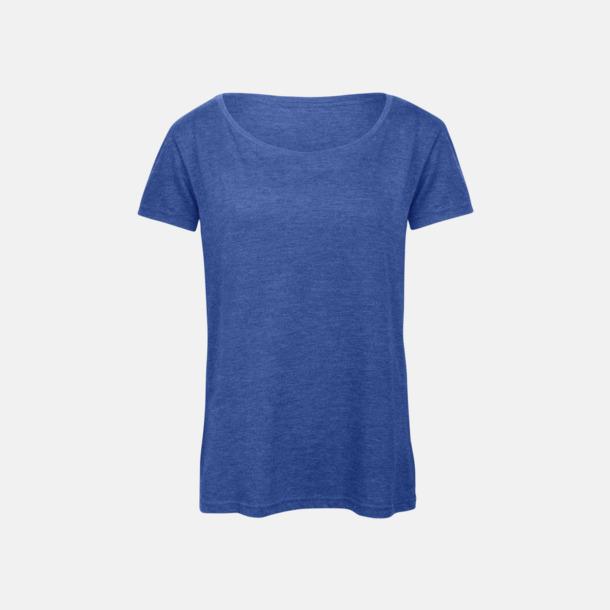 Heather Royal Blue (dam) Triblend t-shirts i dam & herr - med reklamtryck