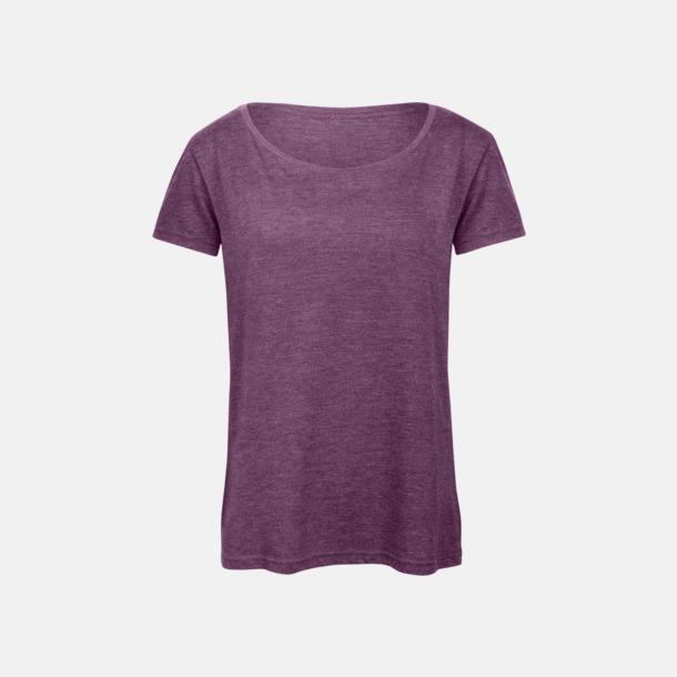 Heather Purple (dam) Triblend t-shirts i dam & herr - med reklamtryck