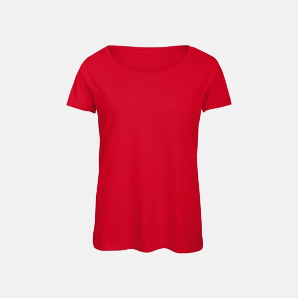 Röd (dam) Triblend t-shirts i dam & herr - med reklamtryck