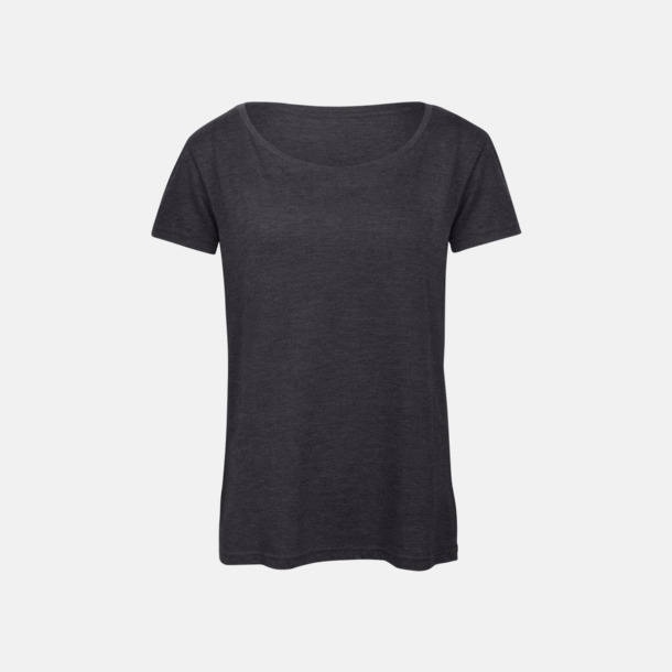 Heather Dark Grey (dam) Triblend t-shirts i dam & herr - med reklamtryck