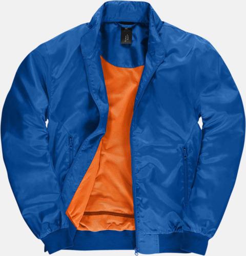 Royal/Neon Orange (herr) Vind- & vattentäta jackor med reklamtryck