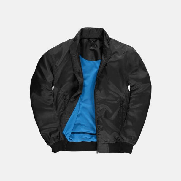 Svart/Cobalt Blue (herr) Vind- & vattentäta jackor med reklamtryck