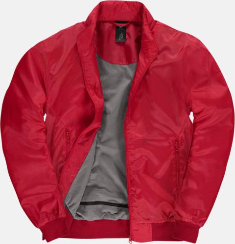 Röd/Warm Grey (herr) Vind- & vattentäta jackor med reklamtryck