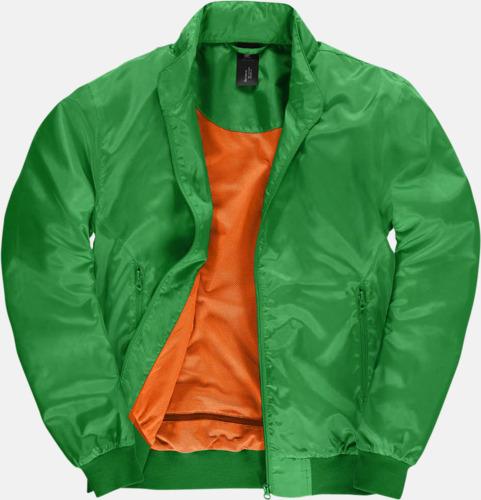 Real Green/Neon Orange (herr) Vind- & vattentäta jackor med reklamtryck
