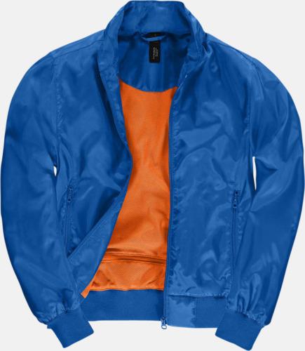 Royal/Neon Orange (dam) Vind- & vattentäta jackor med reklamtryck