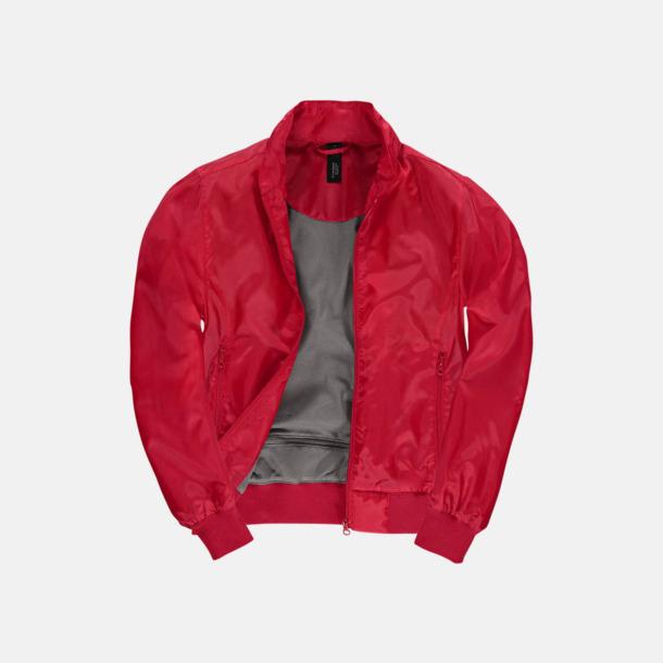 Röd/Warm Grey (dam) Vind- & vattentäta jackor med reklamtryck