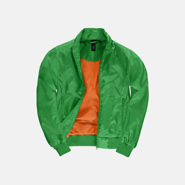 Real Green/Neon Orange (dam) Vind- & vattentäta jackor med reklamtryck