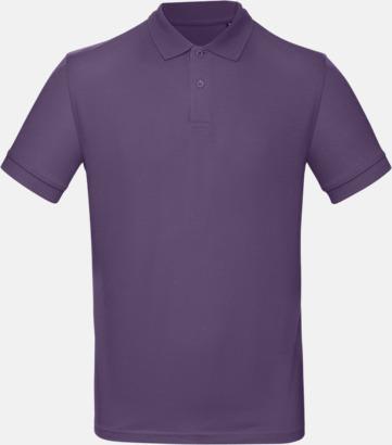 Radiant Purple (herr) Neutrala eko pikéer med reklamtryck