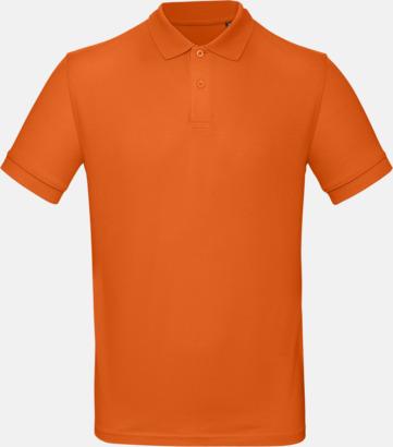Urban Orange (herr) Neutrala eko pikéer med reklamtryck
